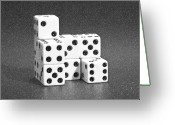 Pencil Greeting Cards - Dice Cubes I Greeting Card by Tom Mc Nemar