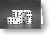 Pencil Greeting Cards - Dice Cubes II Greeting Card by Tom Mc Nemar