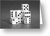 Pencil Greeting Cards - Dice Cubes III Greeting Card by Tom Mc Nemar