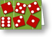 Betting Greeting Cards - Dice Greeting Card by David Nicholls