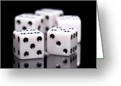 Game Greeting Cards - Dice I Greeting Card by Tom Mc Nemar
