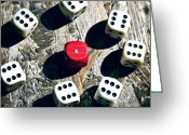 Luck Greeting Cards - Dice Greeting Card by Joana Kruse
