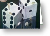 Dice Painting Greeting Cards - Dice Mice Greeting Card by Parrish Payton