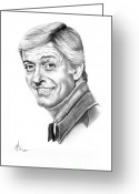 Dick Greeting Cards - Dick Van Dyke Greeting Card by Murphy Elliott
