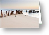 Horizon Over Water Greeting Cards - Dicky Beach Greeting Card by Visual Clarity Photography