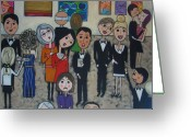 Black Tie Greeting Cards - Did that really win first prize Greeting Card by Elizabeth Langreiter
