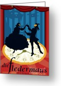Tragedy Greeting Cards - Die Fledermaus Greeting Card by Joe Barsin