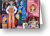 Artists Mixed Media Greeting Cards - Diego and Frida Greeting Card by Candy Mayer