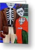 Evangelina Portillo Greeting Cards - Diego y Frida Greeting Card by Evangelina Portillo