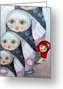 Monochrome Mixed Media Greeting Cards - Different Greeting Card by Lana Wynne