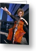 Mit Greeting Cards - Digital Cello Greeting Card by Volker Steger