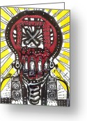Street Art Drawings Greeting Cards - Digital Spit Greeting Card by Robert Wolverton Jr