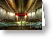 Destinations Digital Art Greeting Cards - Digital Underground Greeting Card by Yhun Suarez