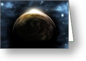 Science Fiction Digital Art Greeting Cards - Digitally Generated Image Greeting Card by Vlad Gerasimov