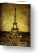 Paris Greeting Cards - Dignified Stature Greeting Card by Andrew Paranavitana