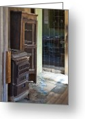 Cupboards Greeting Cards - Dilapidated Kitchen Greeting Card by Eddy Joaquim