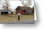 Old Farms Greeting Cards - Dilapidated Old Farm House . No Trespassing . No Hunting . 7D10335 Greeting Card by Wingsdomain Art and Photography