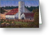 Old Barn Pastels Greeting Cards - Diminishing Returns Greeting Card by Debbie Harding