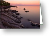 Northshore Greeting Cards - Dimming of the Day Greeting Card by Mary Amerman