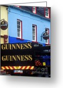Stout Greeting Cards - Dingle Irish Pub Greeting Card by John Greim