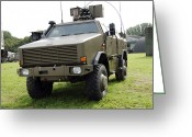Belgian Army Greeting Cards - Dingo Ii Vehicle Of The Belgian Army Greeting Card by Luc De Jaeger
