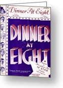 All Star Greeting Cards - Dinner at Eight Greeting Card by Mel Thompson