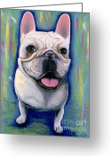 French Bulldog Prints Greeting Cards - Dino The French Bulldog Greeting Card by Ania M Milo