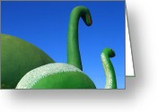 Dinosaurs Greeting Cards - Dinosaur Walk  Greeting Card by Mike McGlothlen