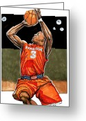 Syracuse Orange Greeting Cards - Dion Waiters Greeting Card by Dave Olsen