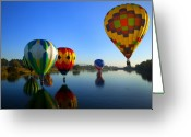 Hot Air Balloon Photo Greeting Cards - Dip and Go Greeting Card by Mike  Dawson