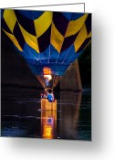Balloon Festival Greeting Cards - Dipping The Balloon Basket Greeting Card by Bob Orsillo