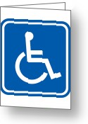 Disability Greeting Cards - Disability Sign, Computer Artwork Greeting Card by