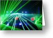 Nightclub Greeting Cards - Discotheque Greeting Card by Andrew Paranavitana