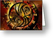 Watches Greeting Cards - Disintegration of the era Greeting Card by Franziskus Pfleghart