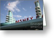 Anaheim California Greeting Cards - Disney California Adventure - Anaheim California - 5D17525 Greeting Card by Wingsdomain Art and Photography
