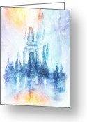 Magic Mixed Media Greeting Cards - Disney Dream Greeting Card by Joel Payne