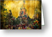 Mystery Digital Art Greeting Cards - Disney World Greeting Card by Svetlana Sewell