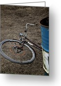 Old Bike Greeting Cards - Disposable Greeting Card by Odd Jeppesen