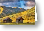 Jeff Kolker Greeting Cards - Distant Storm Greeting Card by Jeff Kolker