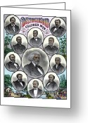 Black History Greeting Cards - Distinguished Colored Men Greeting Card by War Is Hell Store