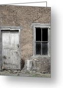 Old Lock Greeting Cards - Distressed Facade Greeting Card by John Stephens