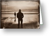 Sennen Greeting Cards - Distressed Sunset Dream Greeting Card by Zoe Ford