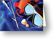 Depth Greeting Cards - Dive Gear Greeting Card by Carlos Caetano
