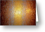 Textured Sculpture Greeting Cards - Divided Light Greeting Card by Daniel Lafferty