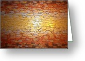 Textured Sculpture Greeting Cards - Divided Reflection Greeting Card by Daniel Lafferty