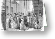 1842 Greeting Cards - Dividend Day, 1842 Greeting Card by Granger
