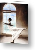 White Dress Greeting Cards - Divine Grace Greeting Card by Richard Young