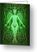 Hippie Art Greeting Cards - Divine Life Greeting Card by Cristina McAllister