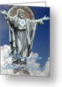 Jeshua Greeting Cards - Divine Masculine Greeting Card by Deane GeMMell