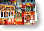 Evening Landscape Greeting Cards - Divine New Orleans Greeting Card by Diane Millsap